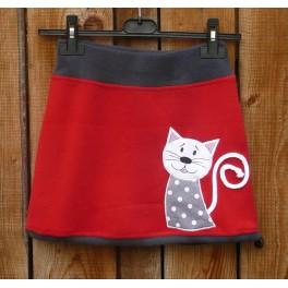 Fleece sukně s kočičkou