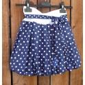 Dětská balon.sukně - modrý puntík-