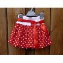 Dívčí balónová sukně - puntík červený