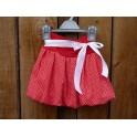 Dívčí balónová sukně - puntík červený malý