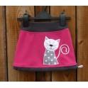 Fleece sukně s kočičkou růžová