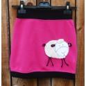 Fleece sukně s ovečkou růžová
