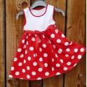 Dětské šaty - retro puntík