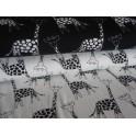 Úplet - žirafky černé na bílé