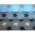 Úplet - mořské hvězdice na šedém
