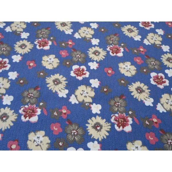 3e4ccb865386 Elast. riflovina - barevné kytičky na modré - KIMI - Ilona Kučerová