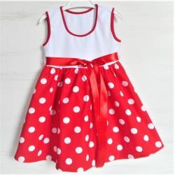 Dětské šaty - retro puntík -vel. 92