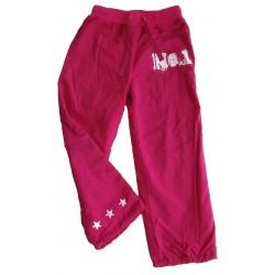 Zateplené sportovní kalhoty s fleecem-vel.140