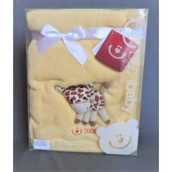 Dětská deka s aplikací - žlutá